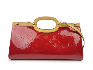 SOLD OUT Louis Vuitton Red Vernis Roxbury Two Way Bag