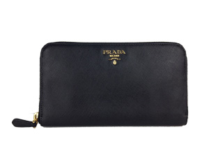 BRAND NEW Prada Saffiano Calf Leather Zip Wallet - Black