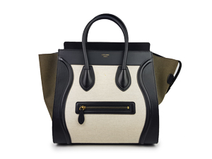Celine Mini Luggage Tri-Color Leather Tote Bag