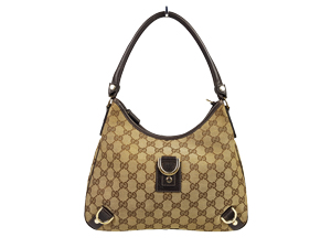 Gucci GG Canvas Abbey D Ring Hobo Bag