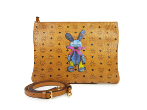 MCM Rabbit Zip Clutch / Crossbody Bag