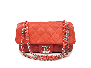 Chanel Red Flap With Silver Hardware