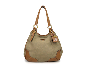 Prada Canvas Hobo Shoulder Bag