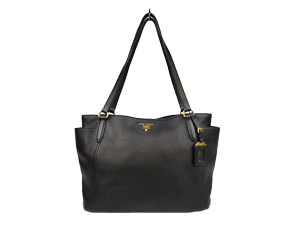 SOLD OUT Prada Vit Daino Nero Tote Bag BR4970