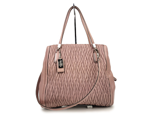 Coach Madison Gathered Twist Leather Satchel 25262