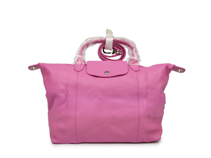 Longchamp Pink Leather Le Pliage Cuir Sling