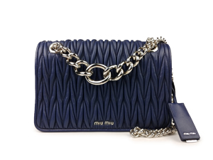 Miu Miu Matelasse Leather Chain Shoulder Bag