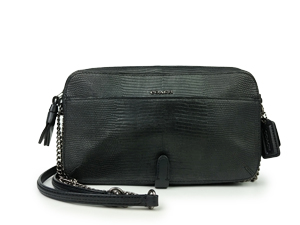 Coach Poppy Flight Bag In Python Embossed Leather 25061