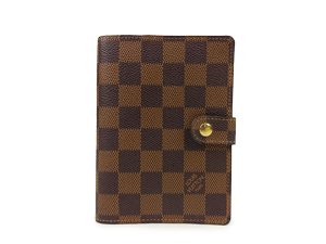 SOLD OUT Louis Vuitton Damier Ebene Small Ring Agenda Cover