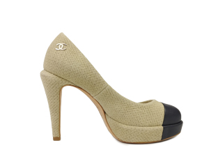 Chanel Cap Toe Platform Pump