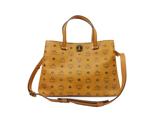 MCM Signature Visetos Coated Tote