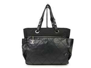Chanel Black Paris Biarritz Tote