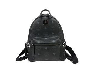 MCM Black Stark Side Studs Backpack