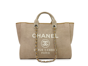 Chanel Canvas Deauville Tote Bag