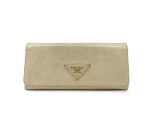 Prada Button Long Wallet