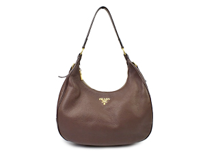 Prada Vitello Daino Leather Hobo Bag B4311M