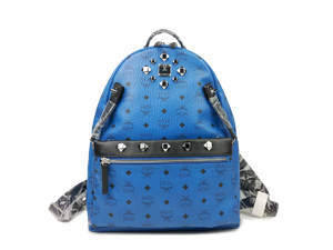 Mcm Dual Stark Medium Backpack Munich Blue
