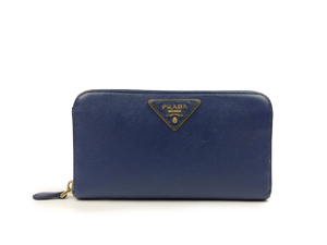 Prada Blue Saffiano Long Wallet 1M0506