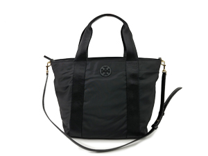 Tory Burch Black Nylon Two Way Bag