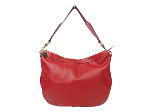 Gucci Red Leather Web Hobo Bag