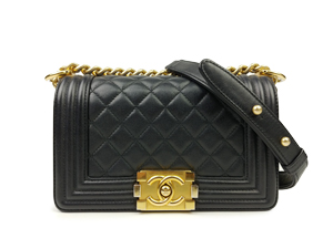 Chanel Black Calfskin Boy Flap WGH