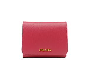 SOLD OUT Brand New Prada Vitello Move Leather Short Trifold Clasp Wallet 1MH176