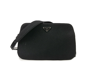 Prada Canvas Plastic Shoulder Bag