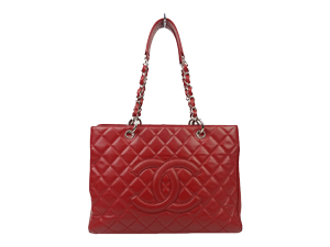 Chanel Red Caviar Grand Shopper Tote GST WSH