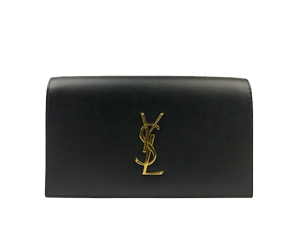 SOLD OUT Ysl Yves Saint Laurent Embossed Calfskin Large Clutch