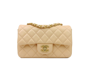 BRAND NEW Chanel Lambskin Mini Rectangular Flap WGH