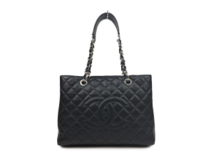 Chanel Black Caviar Grand Shopper Tote GST WSH