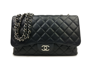 Chanel Black Caviar Jumbo Flap WSH