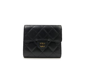 SOLD OUT Chanel Black Caviar Classic Square Trifold Wallet