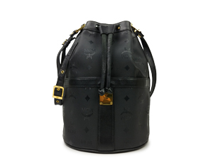 MCM Black Vintage Bucket Bag