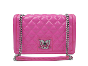 Love Moschino Patent Quilted Shoulder Bag