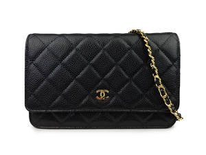 Chanel Black Caviar Wallet On Chain WOC WGH
