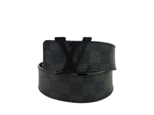 Louis Vuitton Damier Graphite Initiales Belt