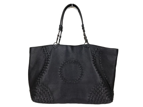 Bottega Veneta black leather shoulder bag