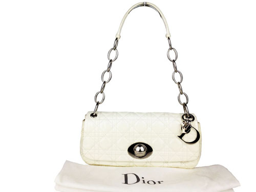 Christian Dior Rendezvous Cannage Bag (White)