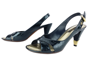 Louis Vuitton Vernis No Doubt Slingback Sandals