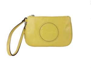 BRAND NEW Coach Yellow Patent Leather Small Wristlet