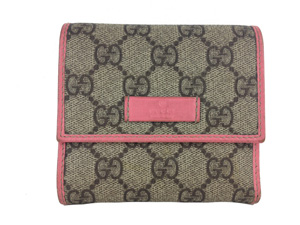 Gucci Pink Canvas Wallet
